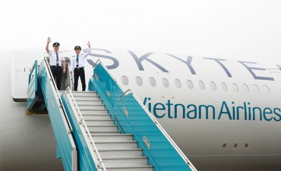 Vietnam Airlines welcomes new A350 with SkyTeam livery