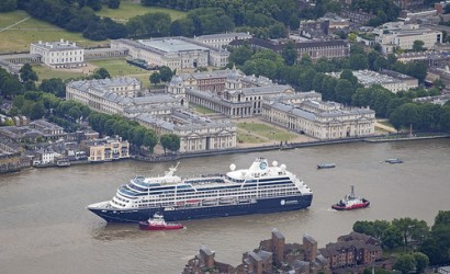 Azamara Club Cruises arrives in London to complete first World Journey