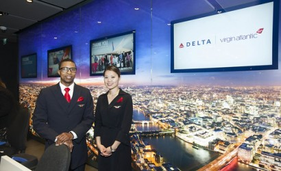 Delta Air Lines takes off for Portland, Oregon