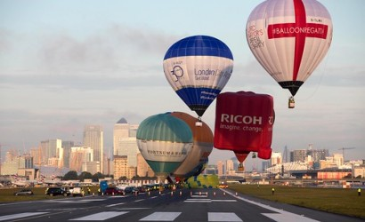 Lord Mayor's balloon regatta takes off from London City