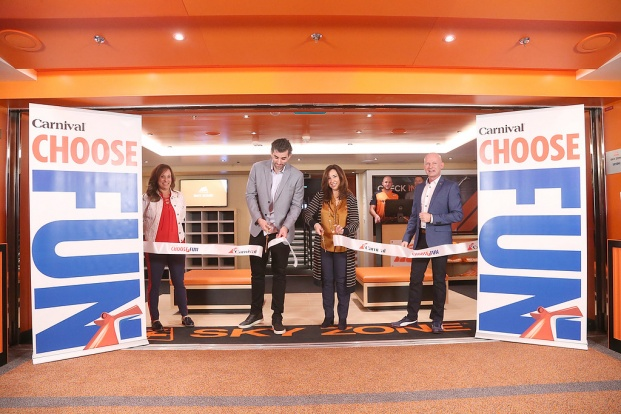Sky Zone Ribbon Cutting on Carnival Panorama