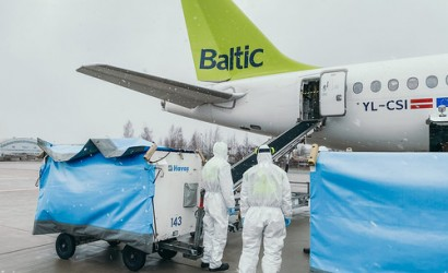 airBaltic flies in emergency Covid-19 supplies from China