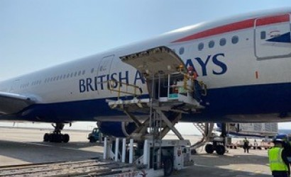 British Airways flies in medical supplies from China