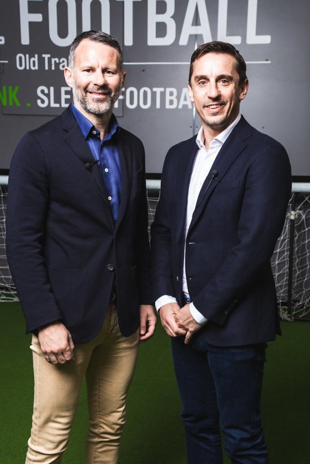 Ryan Giggs and Gary Neville at Hotel Football