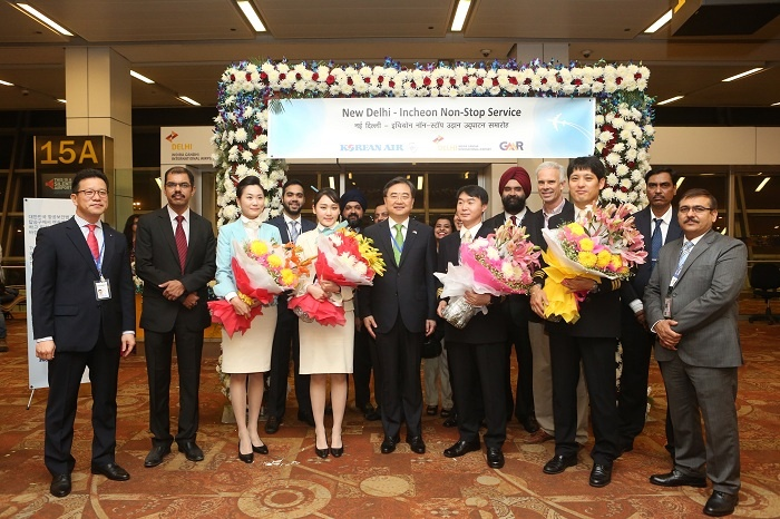 Korean Air welcomes first direct flight to Delhi, India