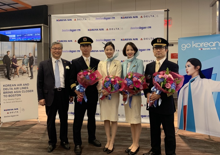 Korean Air launches Boston-Seoul connections as Delta partnership takes off