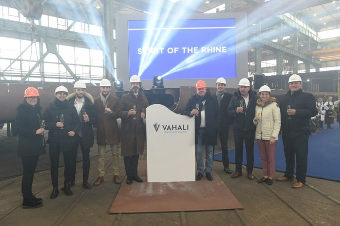 Saga celebrates Spirit of the Rhine keel-laying in Serbia