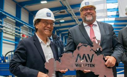 Dream Cruises celebrates latest steel cutting in Germany