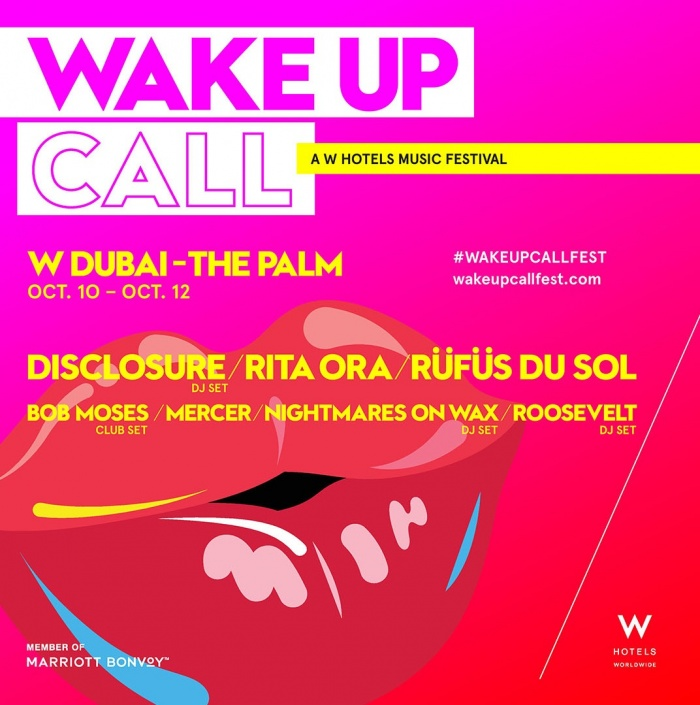 W Dubai – the Palm to host Wake Up Call in October