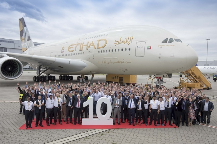 Etihad takes delivery of final Airbus A380