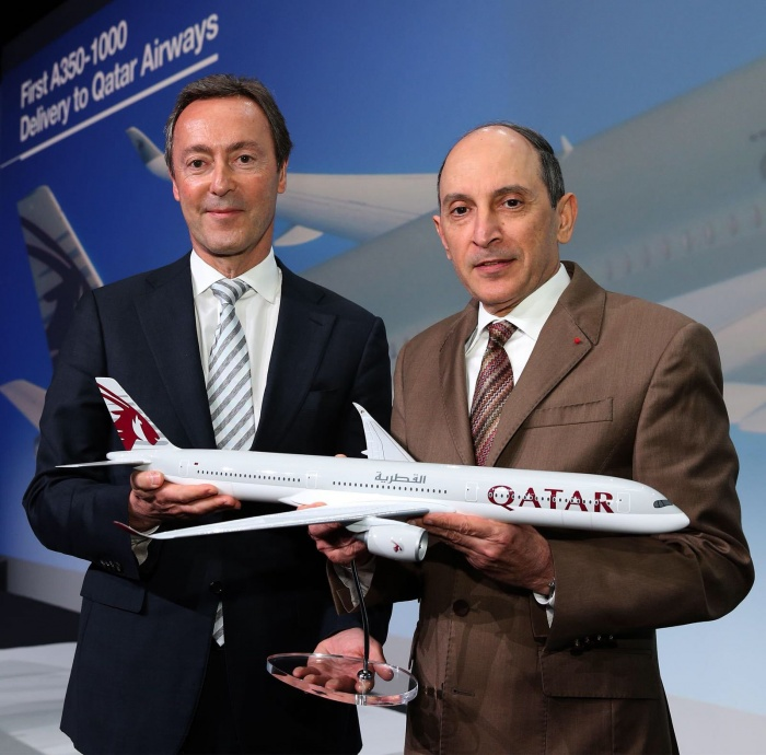 Qatar Airways takes delivery of the world's first Airbus A350