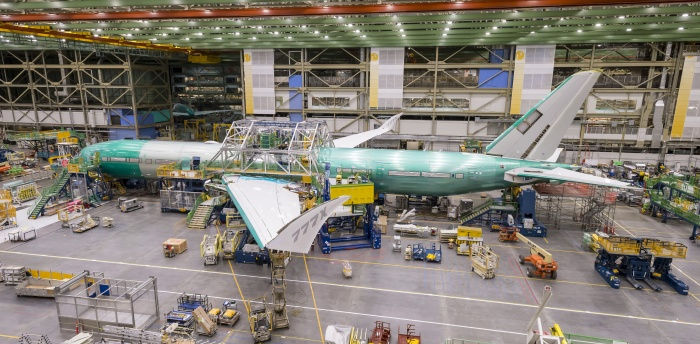 First Boeing 777X takes shape at Everett facility