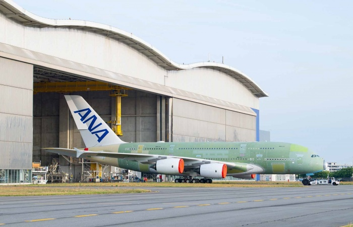 First All Nippon Airways Airbus A380 rolls off assembly line