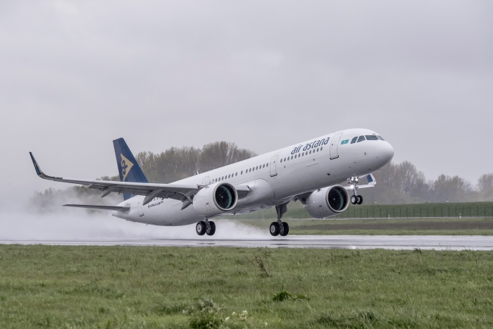 Air Astana welcomes first Airbus A321neo to fleet