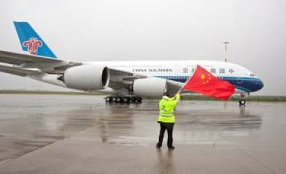 China Southern Airlines' initial A380 emerges from the paint shop