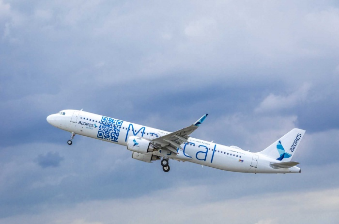 Azores Airlines welcomes first Airbus A321LR to fleet