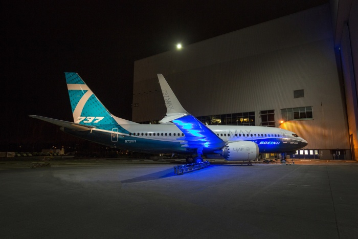 First 737 MAX 7 debuts at Boeing's Renton factory
