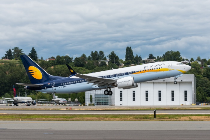 Jet Airways receives first 737 MAX from Boeing