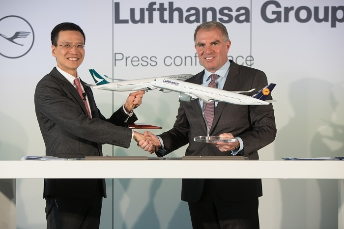 Cathay Pacific signs Lufthansa code-share partnership
