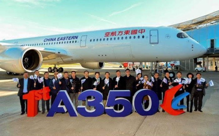 China Eastern welcomes first Airbus A350-900 to fleet