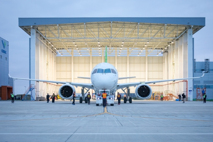 Comac C919 takes off for maiden flight in China