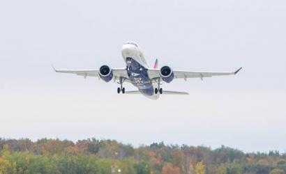 First Delta Airbus A220-100 takes off in Canada