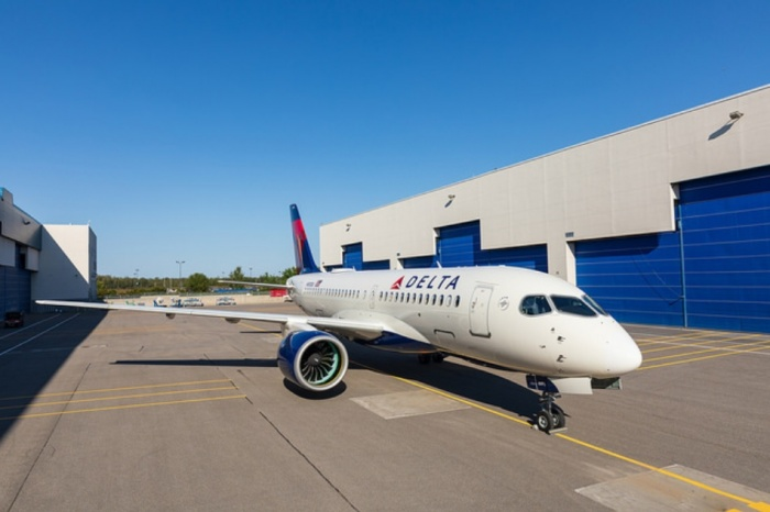 First Delta Airbus A220 rolls off production line