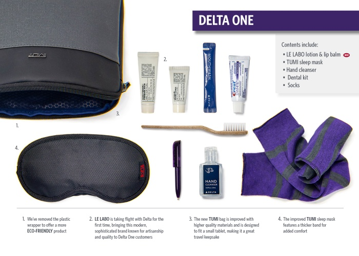 Delta launches new eco-led amenities kit