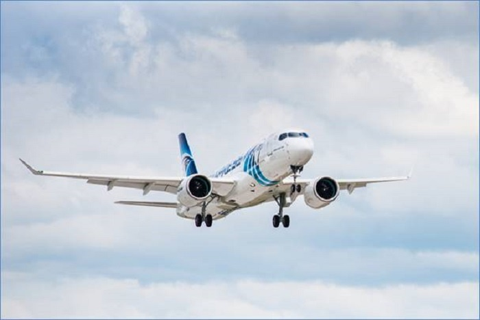 First EgyptAir A220-300 headed for Cairo