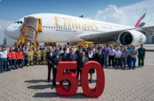 Emirates receives its 50th A380 aircraft