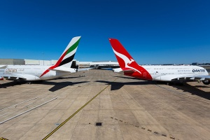 Qantas and Emirates partnership countdown in New Zealand
