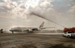Joburg welcomes first Emirates A380