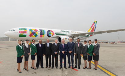 Alitalia and Etihad Airways reveal Expo 2015 liveried planes
