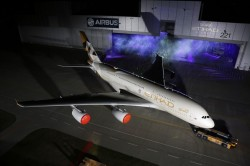 Etihad reveals new livery as first A380 rolls out