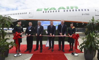 Eva Air takes delivery of first Boeing 787-10 Dreamliner