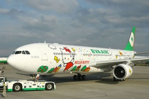 EVA Air launches Hello Kitty Jet