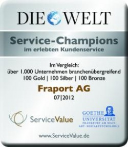 Frankfurt Airport praised as Service Champion