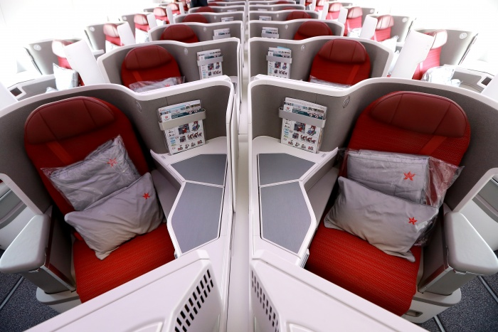 Hong Kong Airlines unveils new business class product on Airbus A350
