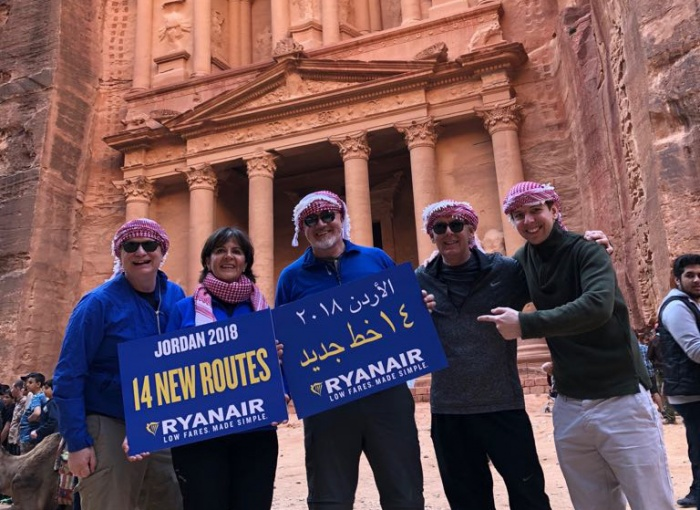 Ryanair to launch new flights to Jordan