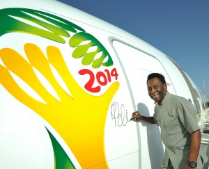 FIFA World Cup 2014: Emirates unveils first 'Pelé-ane'