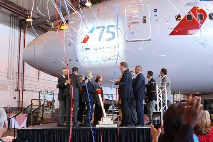 News: American Airlines names Boeing 777 in honour of long serving Azreil Blackman