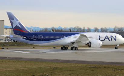 LAN Airlines welcomes first Boeing Dreamliner 787-9 to South America