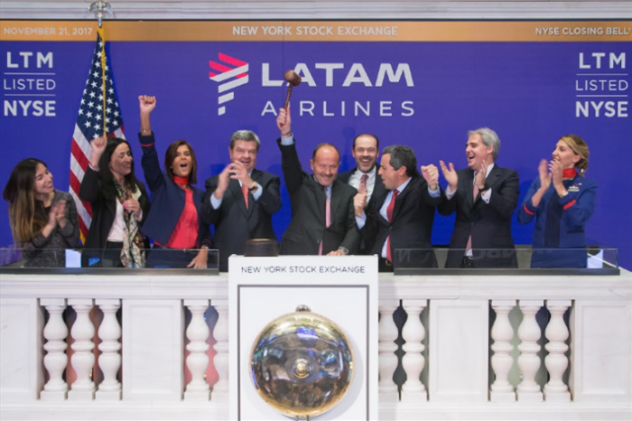 LATAM celebrates 20 years of trading on the New York Stock Exchange
