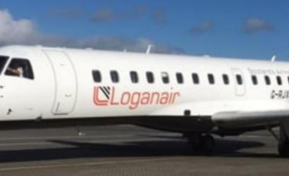 Loganair takes off from London Southend for Aberdeen