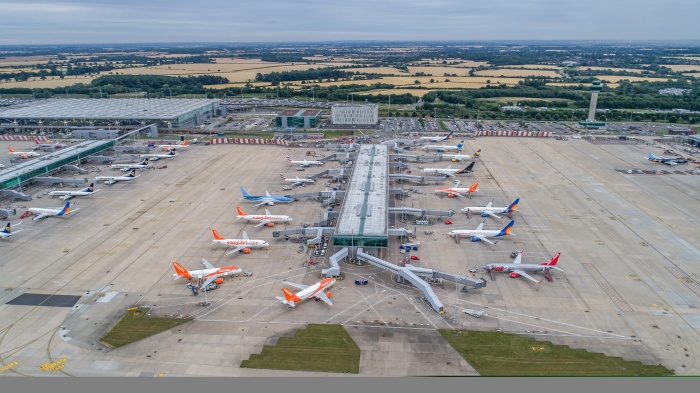New aircraft stands open at London Stansted