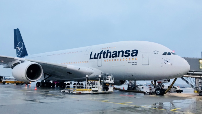 Lufthansa unveils new livery as A380 touches down in Miami