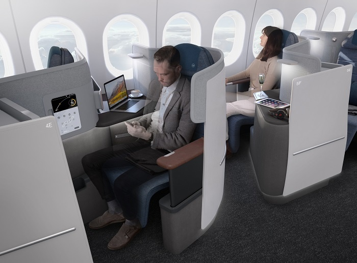 lufthansa unveils new boeing business class product