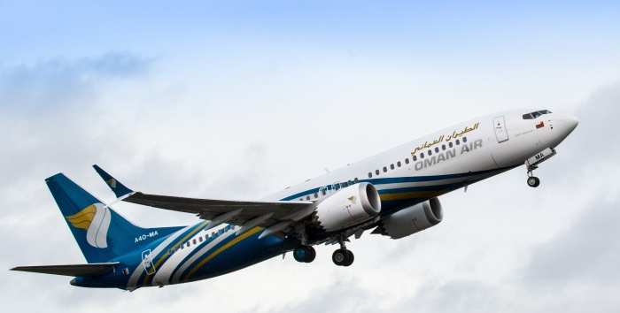 Oman Air takes delivery of first 737 MAX from Boeing