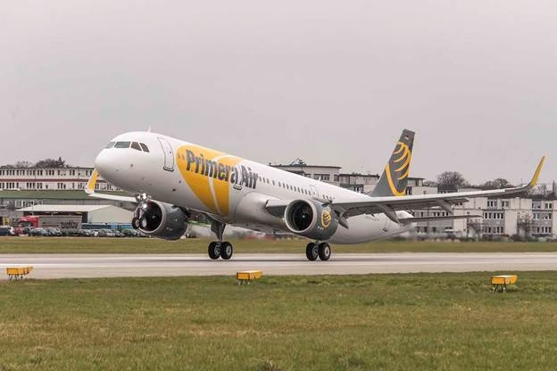 Airbus delivers first A321neo to Primera Air in Hamburg