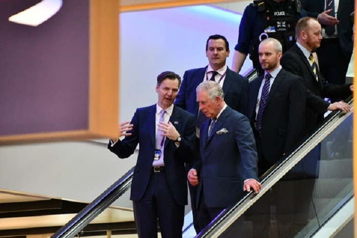 Prince of Wales visits Heathrow to show support for security services